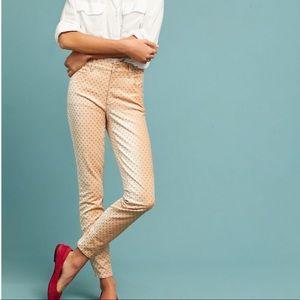 Anthropologie Pilcro Velvet High-Rise Skinny Jeans